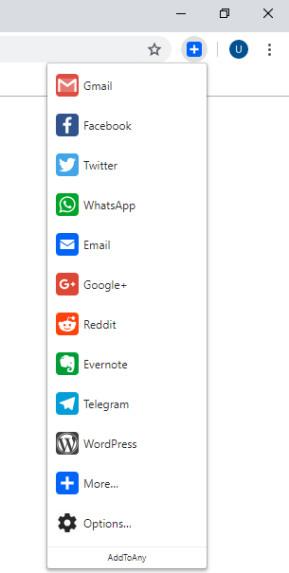 AddToAny für Chrome (Share Anywhere)
