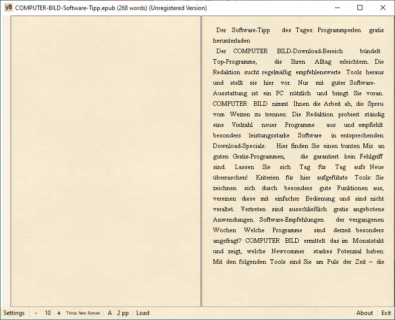 Screenshot 1 - yBook2