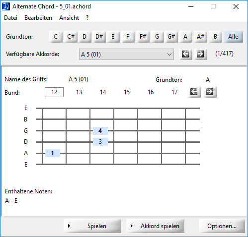 Screenshot 1 - Alternate Chord