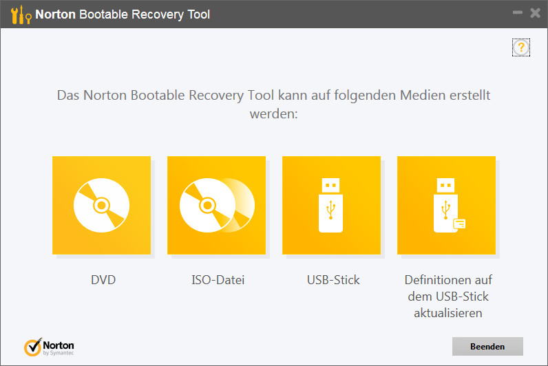 Screenshot 1 - Norton Bootable Recovery Tool