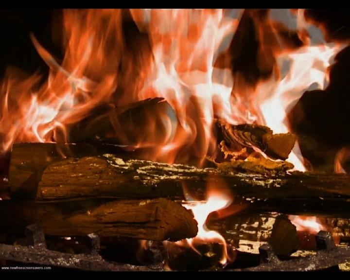 Screenshot 1 - Fire Place Screensaver