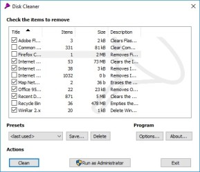 Disk Cleaner Portable