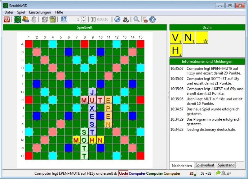 Screenshot 1 - Scrabble 3D
