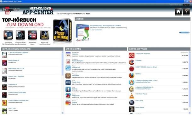 COMPUTER BILD App-Center ©Screenshot