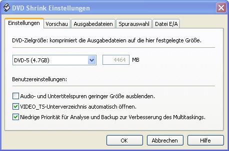 DVD Shrink DeCSS ©Screenshot