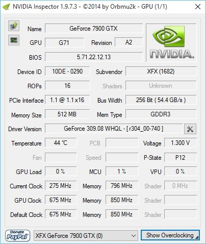 Screenshot 1 - Nvidia Inspector