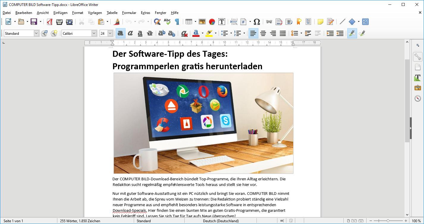 Screenshot 1 - LibreOffice Portable