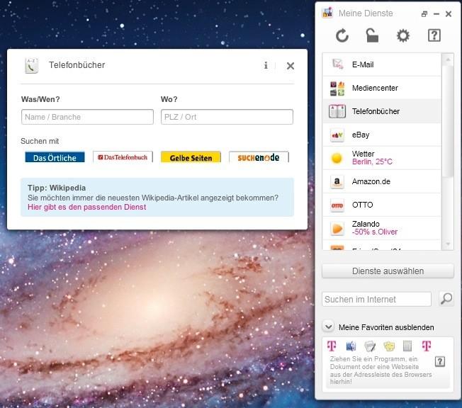 Screenshot 1 - Meine Dienste Software (Mac)