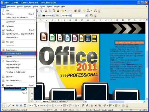 LibreOffice: PDF-Dokument bearbeiten