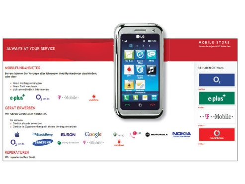 LG Touchscreen-Handy ©Mobile Store