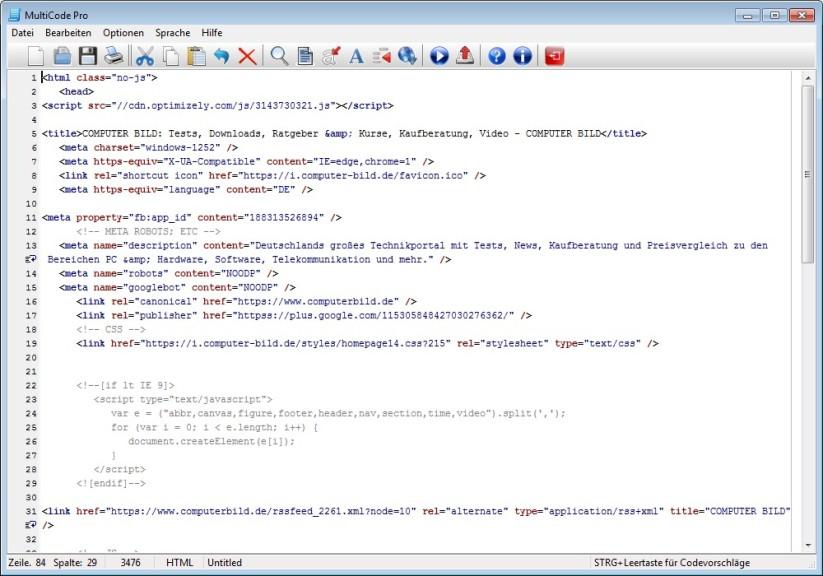 Screenshot 1 - MultiCode