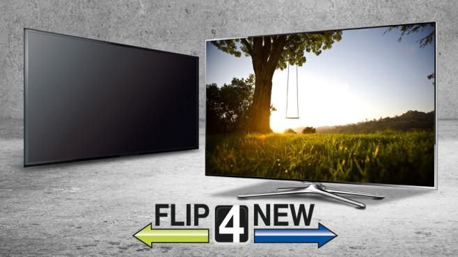 Alte Fernseher über Flip4New verkaufen©Sony, Samsung, kantver - Fotolia.com, Warren Goldswain - Fotolia.com, Fli4New