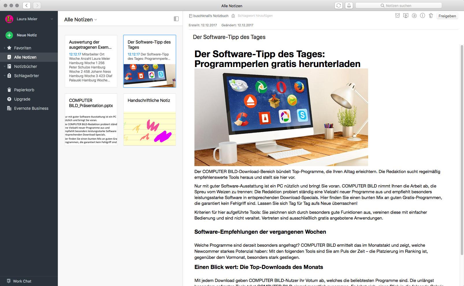 Screenshot 1 - Evernote (Mac)