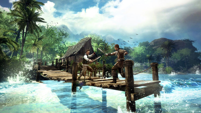 Rollenspiel Risen 2 – Dark Waters: Steg © Deep Silver