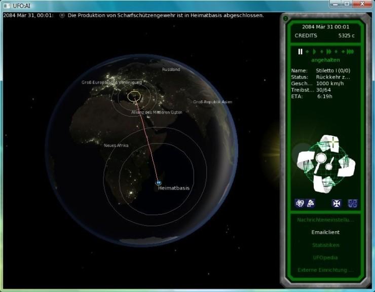 Screenshot 1 - UFO: Alien Invasion