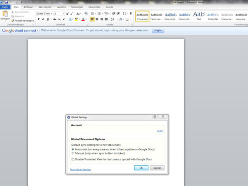 Google Cloud Connect – Microsoft Office Plug-in