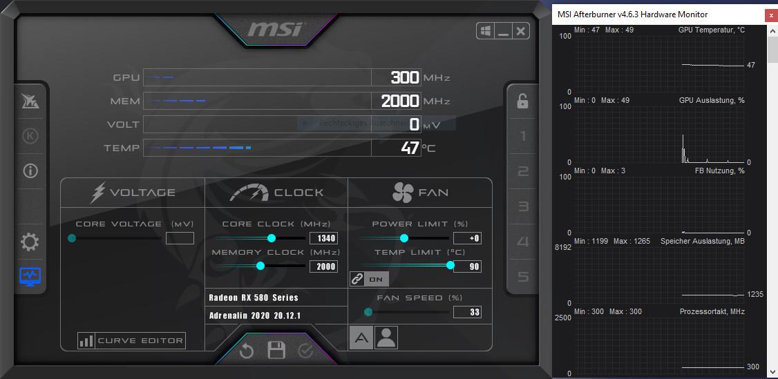 Screenshot 1 - MSI Afterburner