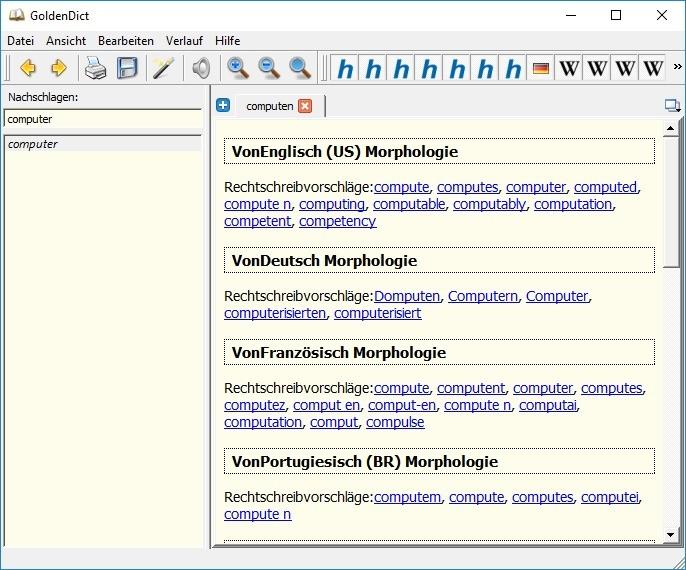 Screenshot 1 - GoldenDict Portable