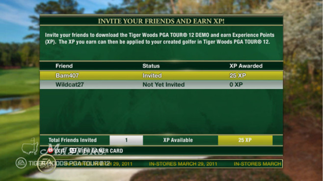 Sportspiel Tiger Woods PGA Tour 12 – The Masters: Online ©Electronic Arts