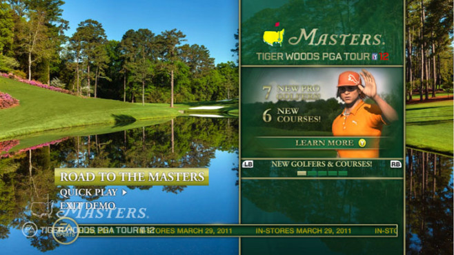 Sportspiel Tiger Woods PGA Tour 12 – The Masters: Road to the Masters ©Electronic Arts
