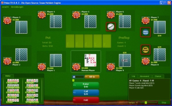 Poker TH: Position des Kartengebers beachten