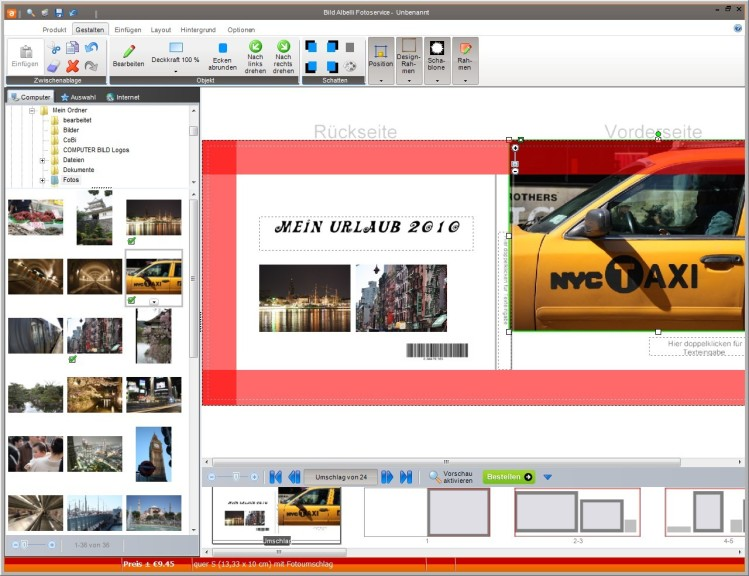 Screenshot 1 - Bild Albelli Fotoservice