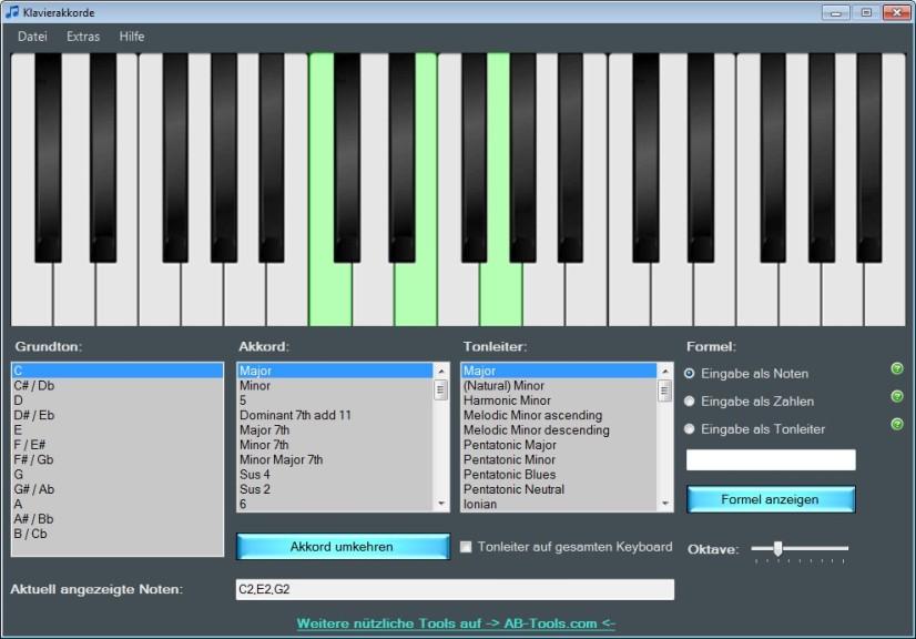 Screenshot 1 - Klavierakkorde