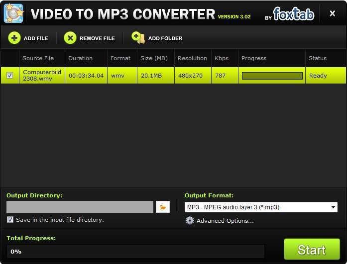 Screenshot 1 - Video to MP3 Converter