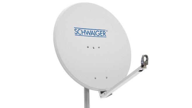 Feineinstellung der Satelliten-Antenne ©Schwaiger