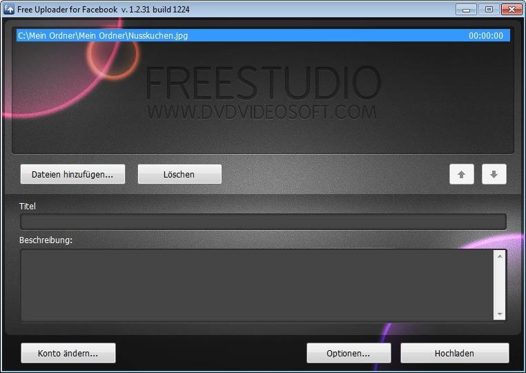 Screenshot 1 - Free Uploader for Facebook