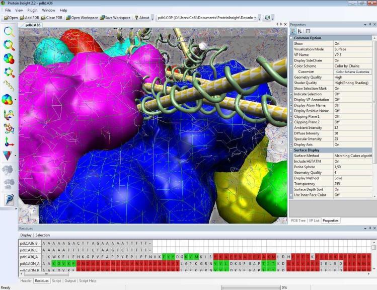 Screenshot 1 - Protein Insight