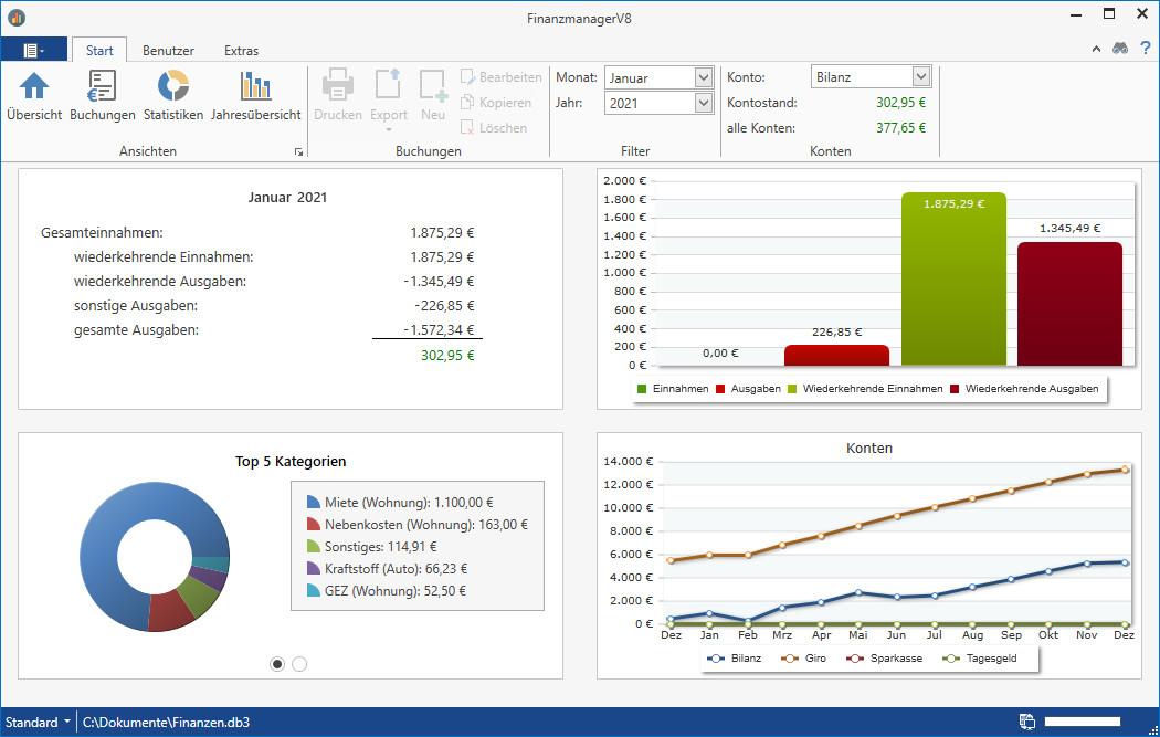 Screenshot 1 - FinanzmanagerV8