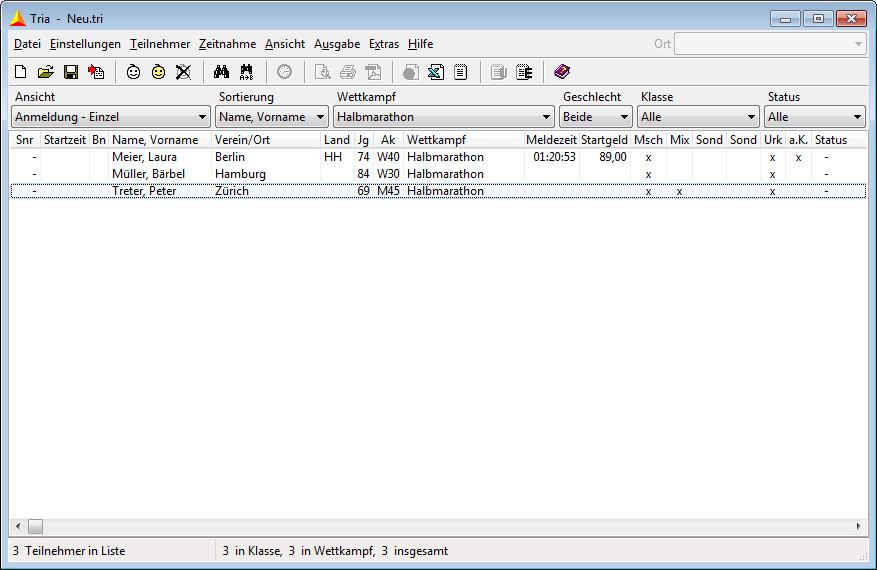 Screenshot 1 - Tria