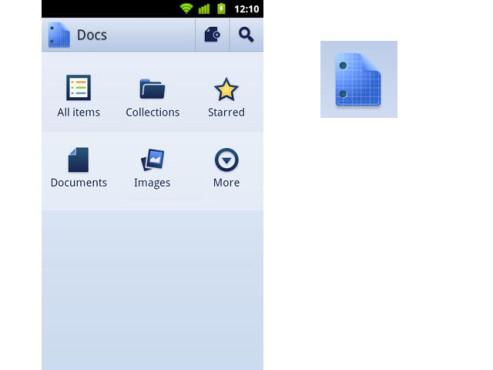 Google Docs für Android ©Google Inc.
