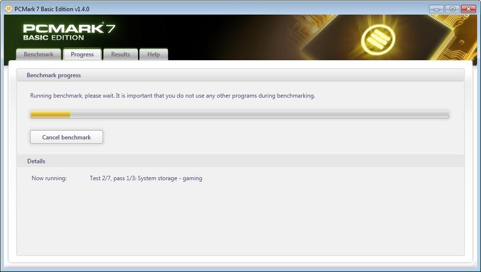 Screenshot 1 - PCMark 7