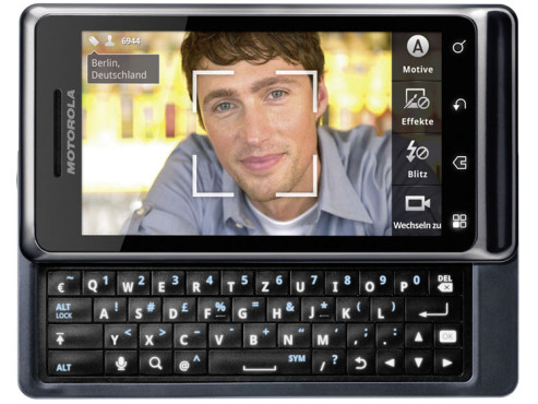 Motorola Milestone 2 ©Motorola