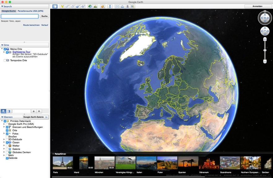 Screenshot 1 - Google Earth (Mac)