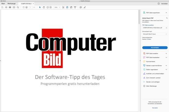 Screenshot 1 - Adobe Reader (Mac)