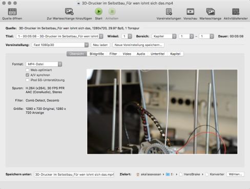 Screenshot 1 - HandBrake (Mac)