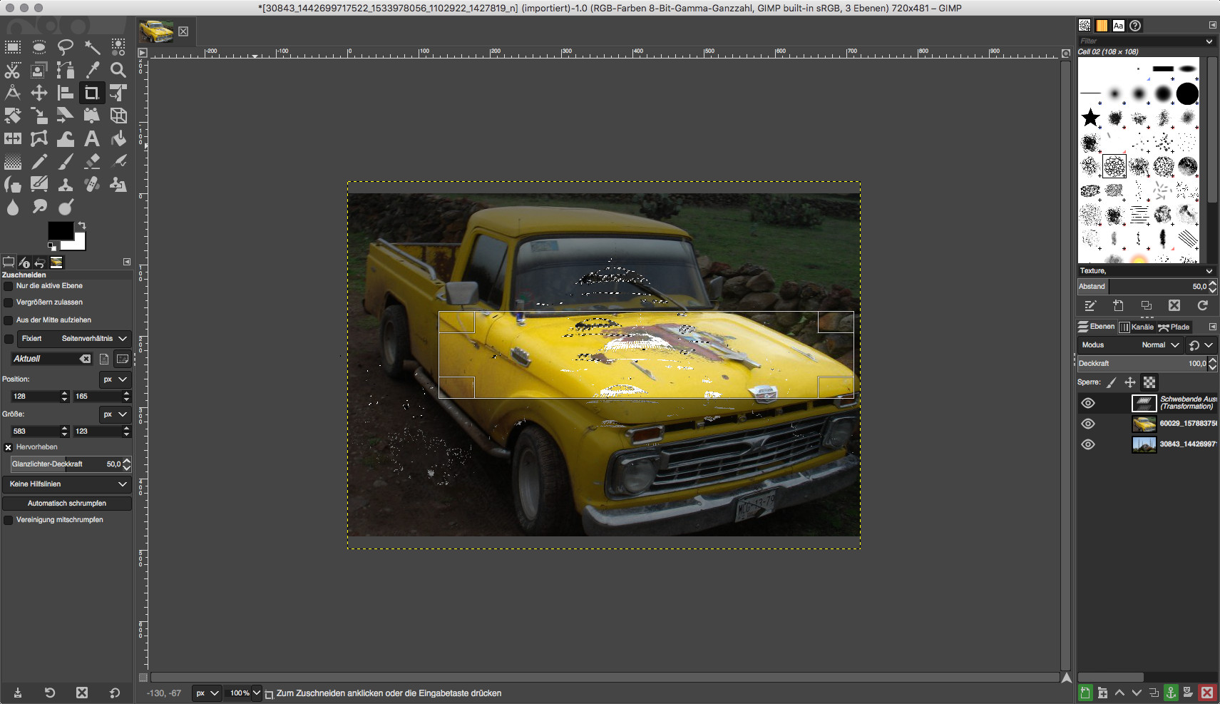 Screenshot 1 - GIMP (Mac)