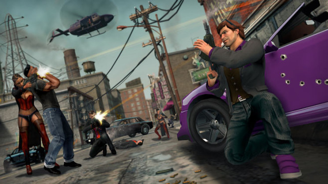Actionspiel Saints Row – The Third: Deckung ©THQ