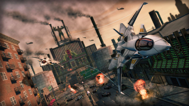 Actionspiel Saints Row – The Third: Jet ©THQ