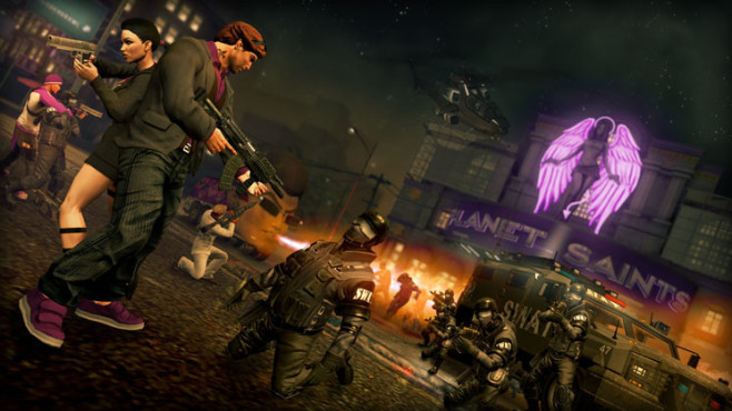 Actionspiel Saints Row – The Third: Stadt ©THQ