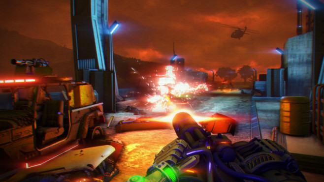 Actionspiel Far Cry 3 – Blood Dragon: Minigun © Ubisoft