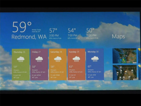 Windows 8 Wetter © YouTube.com