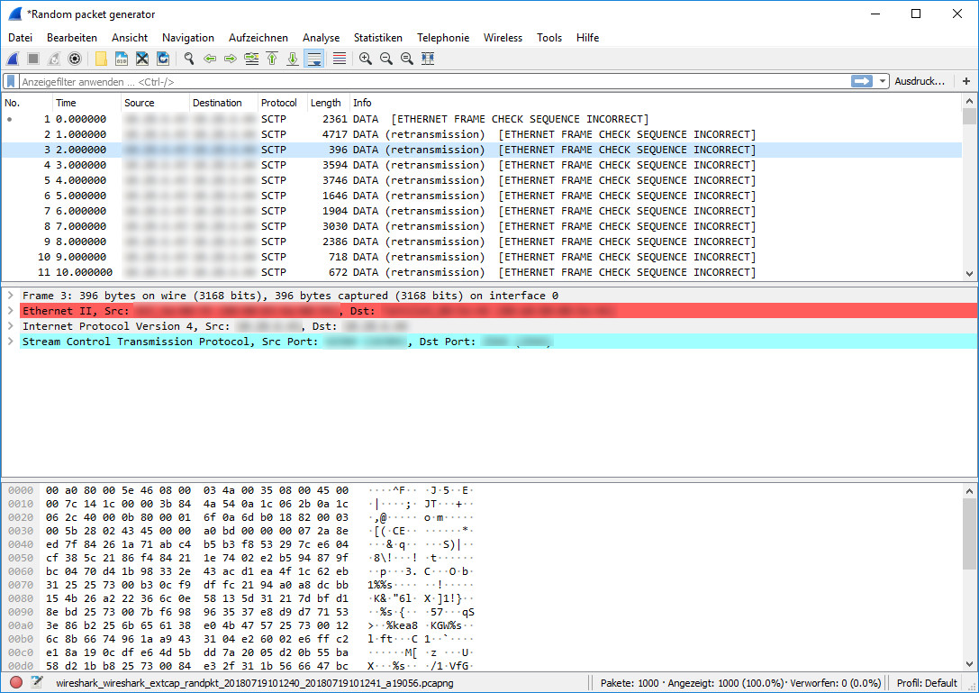 Screenshot 1 - Wireshark