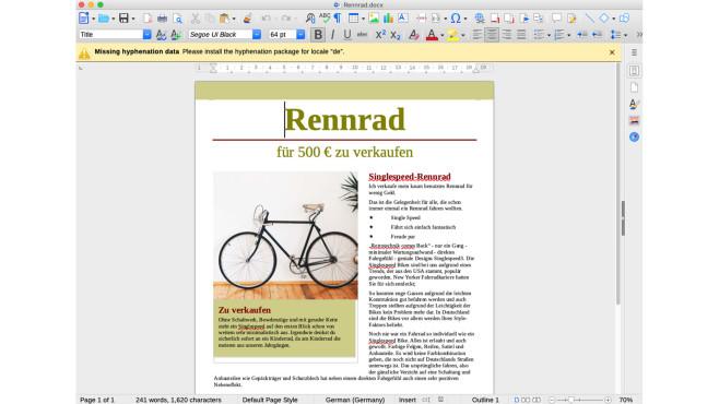 LibreOffice (Mac)©COMPUTER BILD
