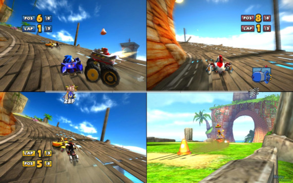 Rennspiel Sonic & SEGA All-Stars Racing: Splitscreen © Moby Games