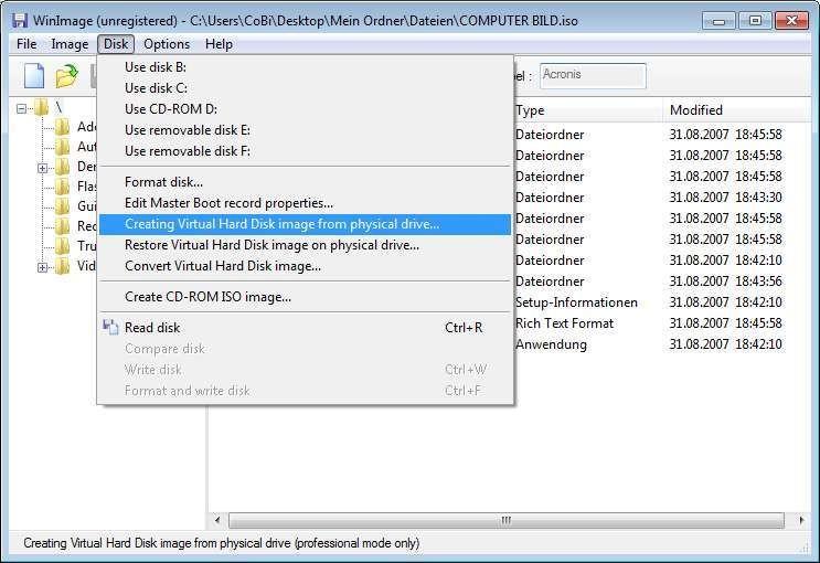 WinImage (64 Bit) 9 00 - Download - COMPUTER BILD