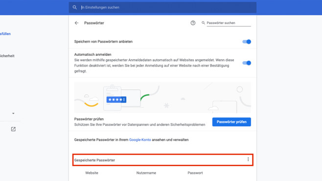 Screenshot: Passwort©COMPUTER BILD